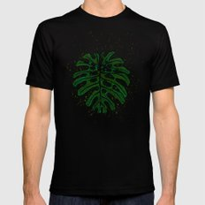Monstera deliciosa Black Mens Fitted Tee SMALL