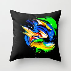 Palette Of Bright Colors… Throw Pillow