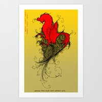 Chinese Zodiac Rooster Art Print