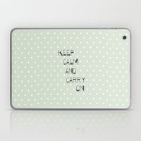 Keep Calm and Carry on ~ polka dot ~ poster ~ typography ~ illistration Laptop & iPad Skin