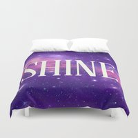 Shine Galaxy  Duvet Cover