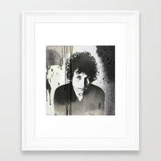 Bob Dylan B&W Framed Art Print
