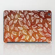 iPad Case featuring Brown Orange Watercolor … by Girly Trend