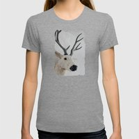 Winter Deer - JUSTART © Womens Fitted Tee Tri-Grey SMALL