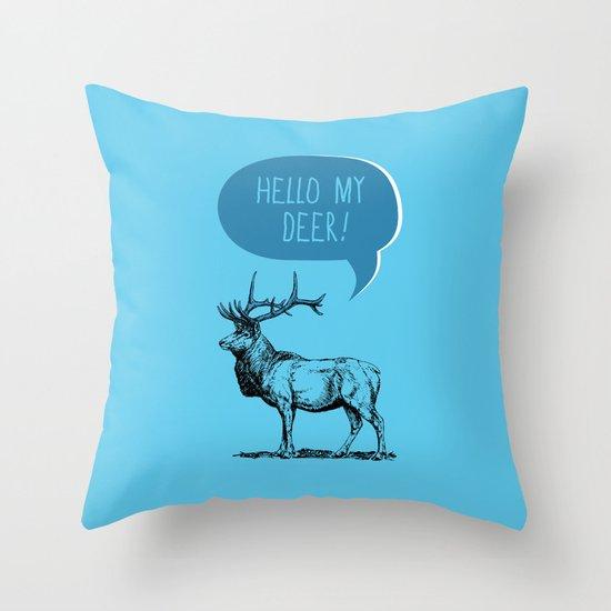 Deer Pun Throw Pillow