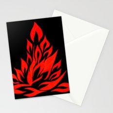 fire meditation pose Stationery Cards