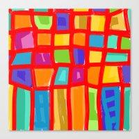 Colorful Grid Canvas Print