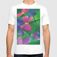 Stems Mens Fitted Tee White SMALL