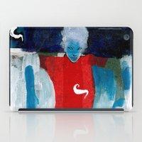 woman in the wind iPad Case