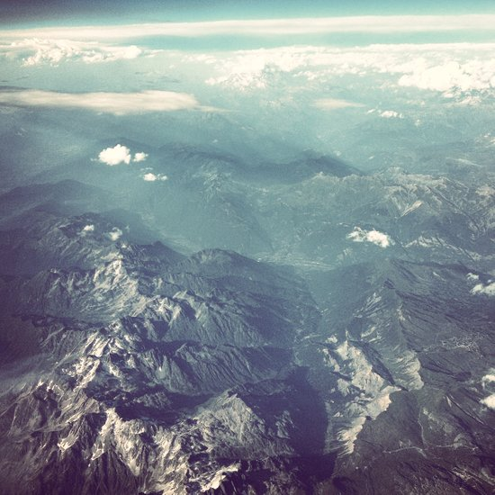 Aerial View of the French Alps Art Print