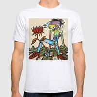 Her Flower Power Mens Fitted Tee Ash Grey SMALL