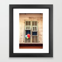 Nice France window 6133 Framed Art Print