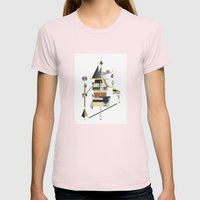 losing balance Womens Fitted Tee Light Pink SMALL