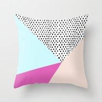 Polka Dot Rain Geometric Throw Pillow