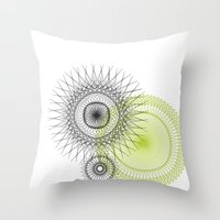 Modern Spiro Art #3 Throw Pillow