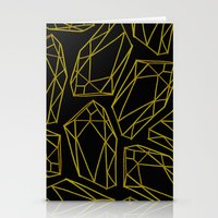 golden emptiness. Stationery Cards