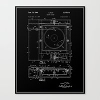 Record Player Patent - B… Canvas Print