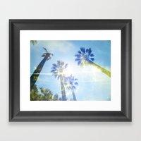 Faded Palms Framed Art Print
