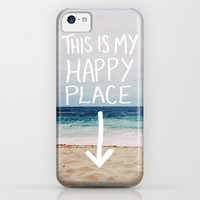 iPhone 5c Cases featuring My Happy Place (Beach) by Leah Flores