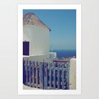 Windmill House II Art Print