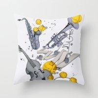 Jazz Jazz Jazz Throw Pillow