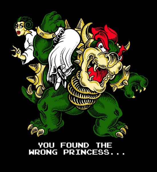 wrong princess. Art Print