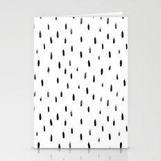 Minimal brush print pattern Stationery Cards