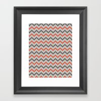 Chevron. Framed Art Print