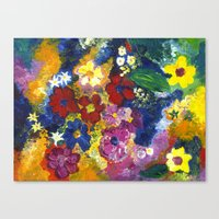 Bright Flowers Canvas Print