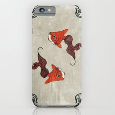 Peony gold fish iPhone 6 Slim Case