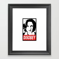 Disobey Scully Framed Art Print