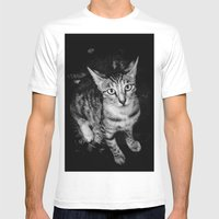 Catseye Mens Fitted Tee White SMALL