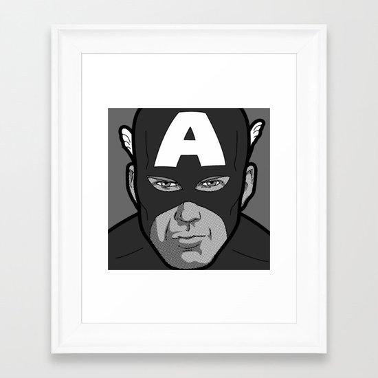 The secret life of heroes - Photobooth2-1 Framed Art Print
