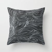 inverted brain map Throw Pillow