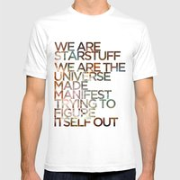 WE ARE STARSTUFF Mens Fitted Tee White SMALL