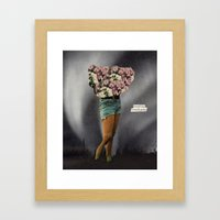Friendly Pause Framed Art Print
