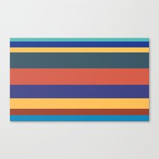 Color Band 70's - B - Stripe Canvas Print