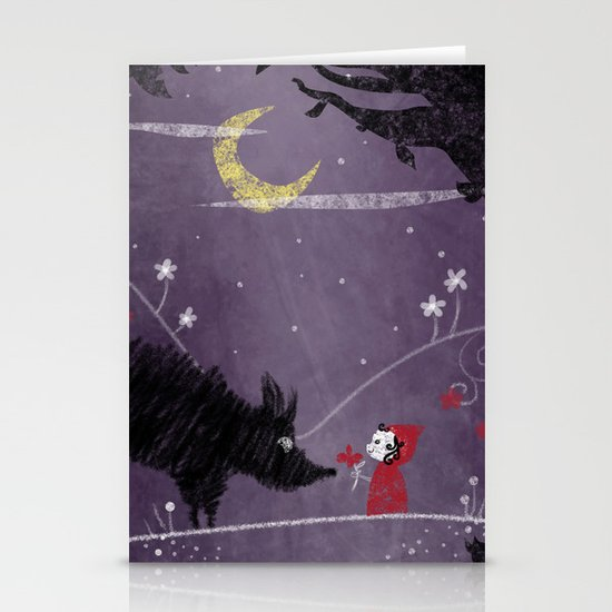 Little Red and Wolf Stationery Card