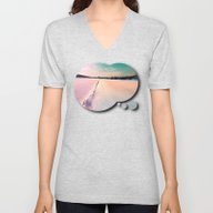 The Field And The Villag… Unisex V-Neck