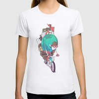 Mr. Traveler Womens Fitted Tee Ash Grey SMALL