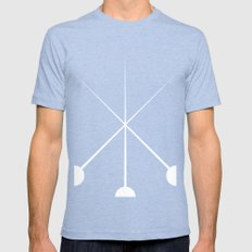 The Three Musketeers Mens Fitted Tee Tri-Blue SMALL