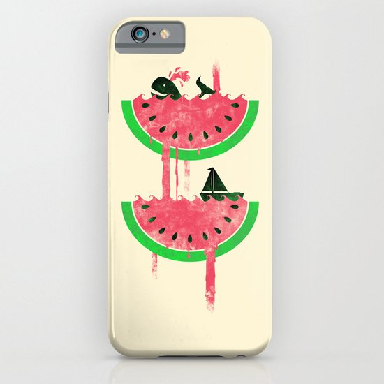 Watermelon falls Final iPhone & iPod Case
