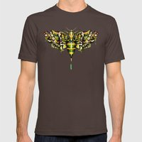 Exhotic Moth Mens Fitted Tee Brown SMALL