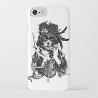 city iPhone & iPod Cases featuring Chicana by Rudy Faber