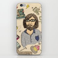 Le barbu iPhone & iPod Skin