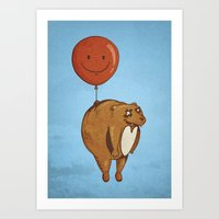 Art Print featuring Float On, Bear, Float On by Boots