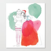 Christmas Illustrations Canvas Print