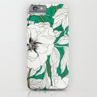 Green Peonies iPhone 6 Slim Case
