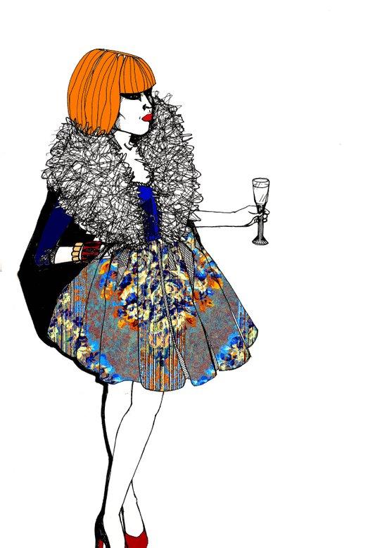Party Dress Art Print