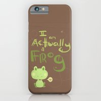 iPhone & iPod Case featuring actually a frog by xephia
